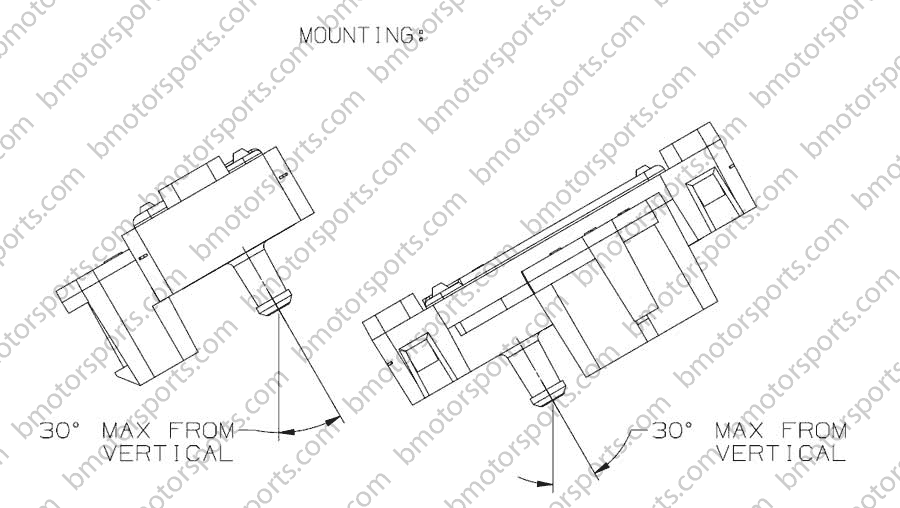 3 bar GM style map sensor 12223861 - 16040749 Mounting diagram chart